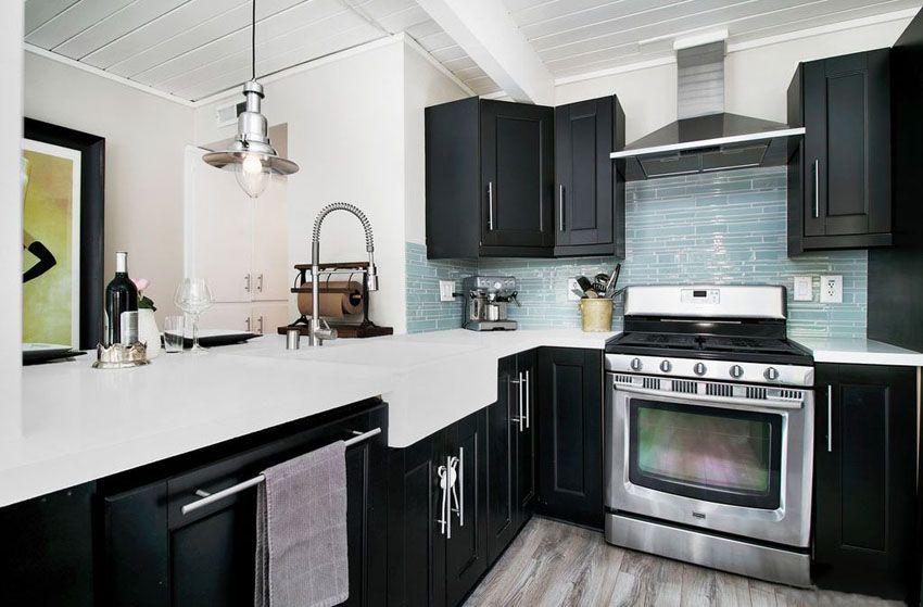 27 Small Kitchens with Dark Cabinets (Design Ideas) | Kitchen .
