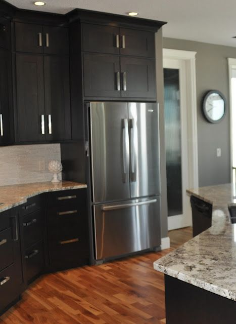 Remodelaholic | Fabulous Kitchen Design; with Black Cabinets .