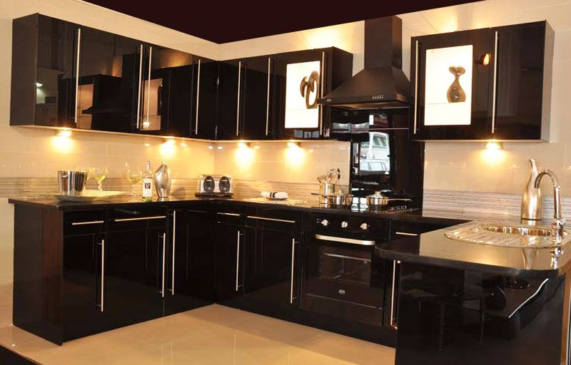 Cheap Black Kitchen Cabinets | Kitchen cabinets for sale, Kitchen .