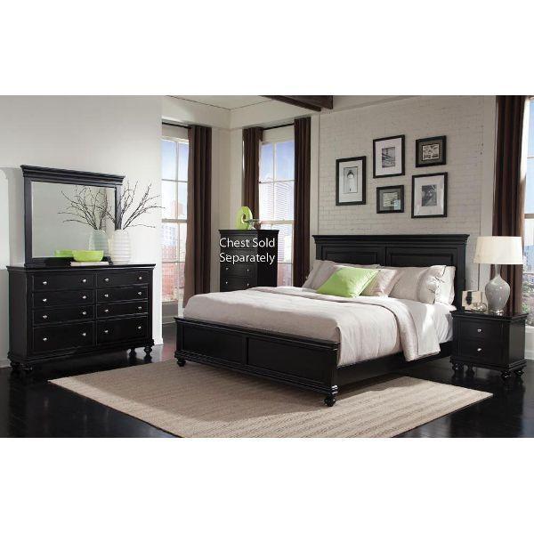 Black 4 Piece Queen Bedroom Set - Essex | King bedroom sets .