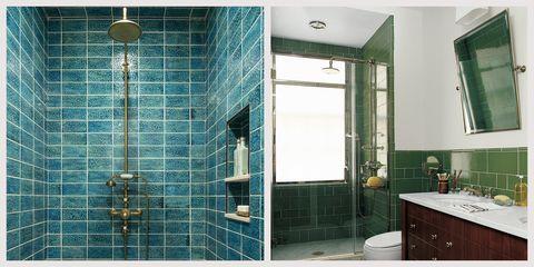 24 Creative Blue and Green Tiled Bathrooms - Best Tiled Bathroom Ide