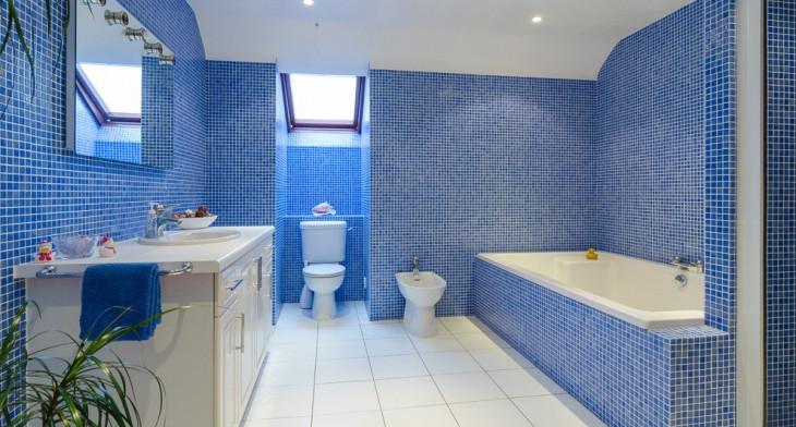 21+ Blue Tile Bathroom Designs, Decorating Ideas | Design Trends .