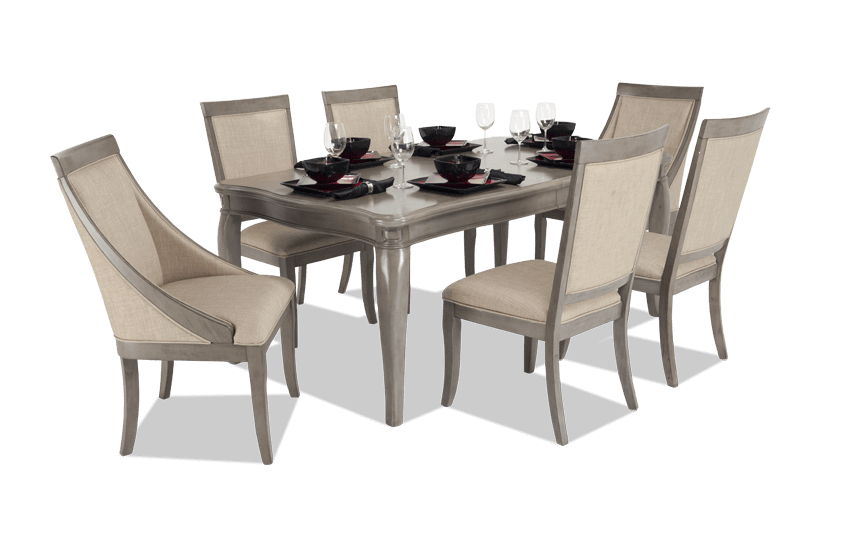 Gatsby 7 Piece Dining Set With Side Chairs & Swoop Chairs | Bob's .