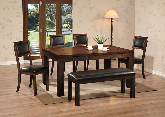 2466 BUTTERFLY DINING TABLE & 4 CHAIRS Bob's Discount Hou