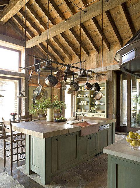 Rustic Kitchen_3 | Rustic kitchen, Industrial kitchen island, Wood .