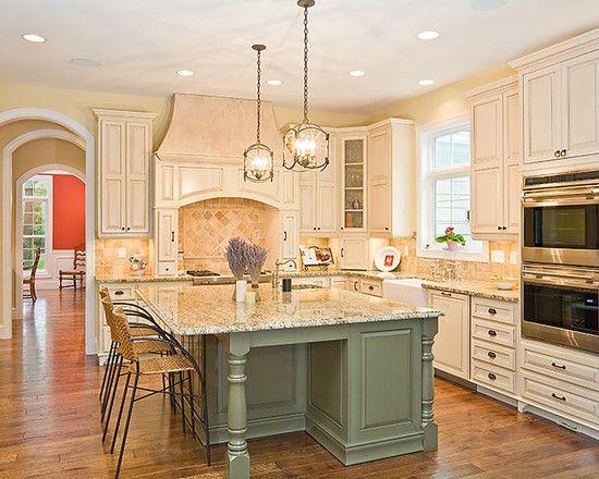 Bright Home Kitchens Interior Decor Idea With Sage Green Colored .