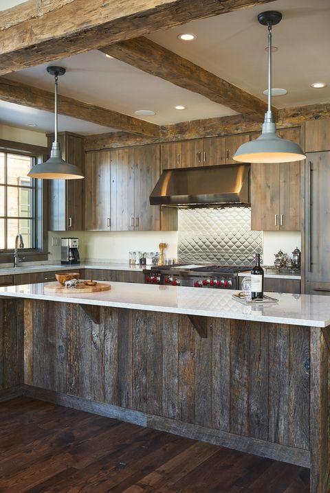 Bright Rustic Kitchen Island