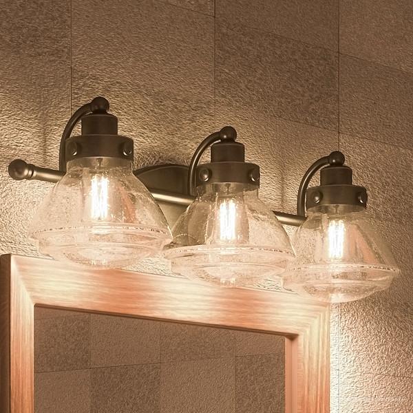 Luxury Transitional Bronze Bathroom Vanity Light, UQL2652 .