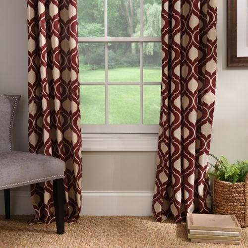 Burgundy Vanness Curtain Panel Set, 96 in. | Burgundy living room .