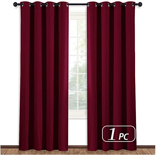 Amazon.com: NICETOWN Burgundy Curtains for Living Room - (Burgundy .