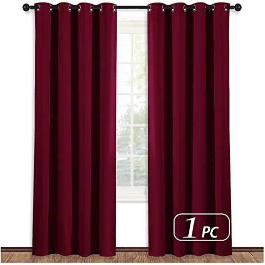 Amazon.com: NICETOWN Burgundy Curtains for Living Room - (Burgundy .