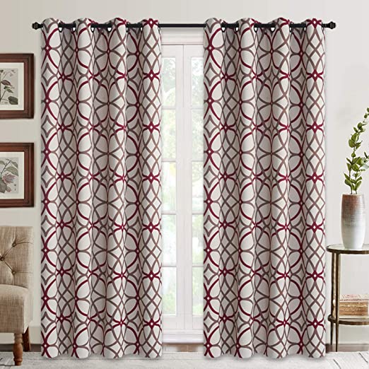 Amazon.com: Curtains for Living Room, Geometric Pattern Room .