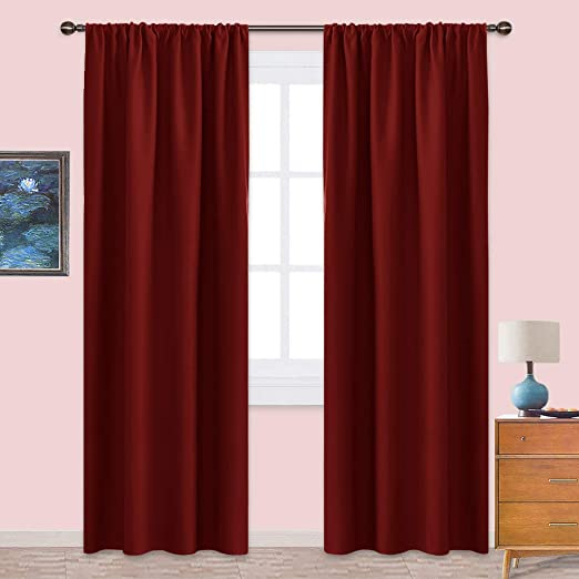 Amazon.com: NICETOWN Burgundy Curtains Blackout Drapes - Home .