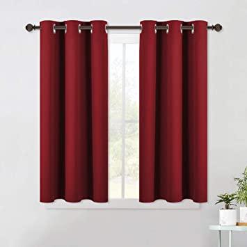 Amazon.com: NICETOWN Burgundy Window Curtains Blackout Drapes .