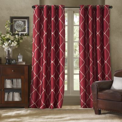 Bombay™ Garrison Grommet Window Curtain Panel | Red curtains .