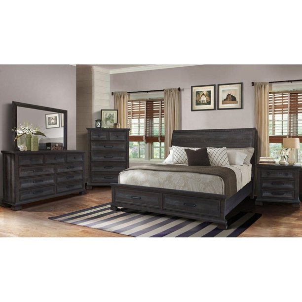 Best Master Furniture Kate 5 Pcs Bedroom Set, Cal. King - Walmart .