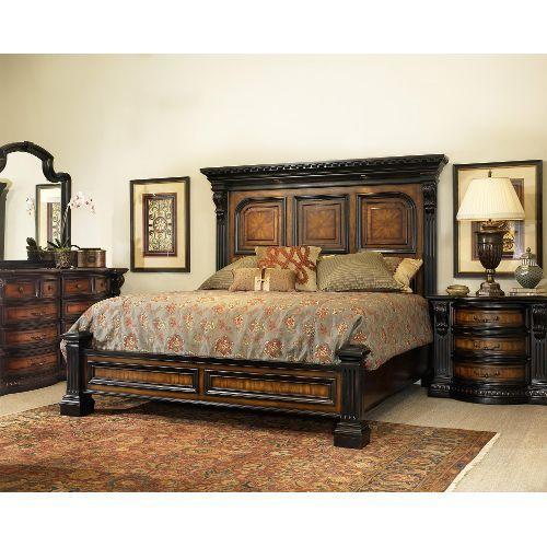 "Grand Estates"" Cinnamon 6-Piece Cal-King Bedroom Set | King ."
