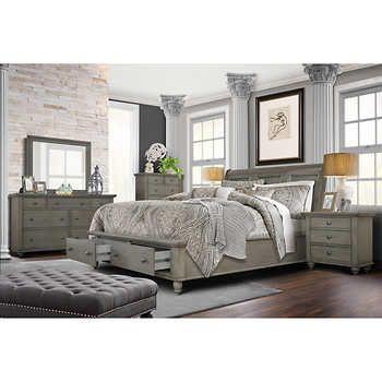 Allenville 6-piece Queen Bedroom Set, Gray | King bedroom sets .