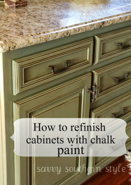 Kitchen Cabinets Tutorial | Refinishing cabinets, Savvy southern .
