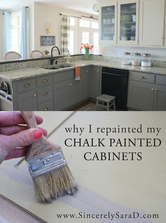 Why I Repainted my Chalk Painted Cabinets - Sincerely, Sara D .