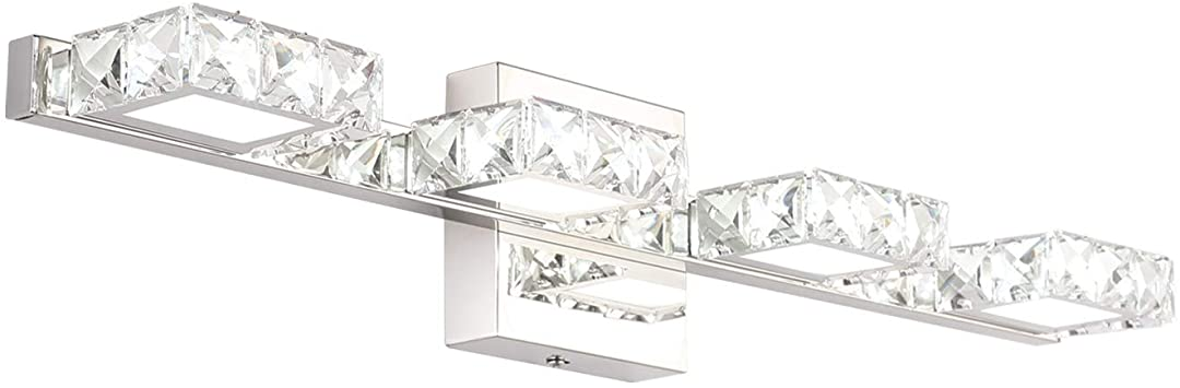 Crystal Vanity Lights, Letsun Bathroom Light Over Mirror 24 inch .