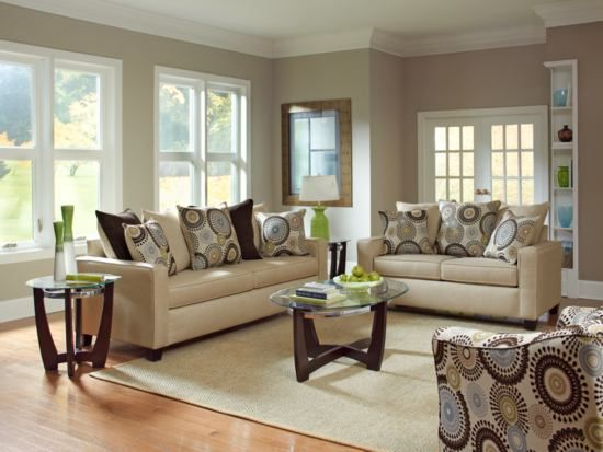 Stoked Cream Sofa - Value City Furniture | Living room leather .