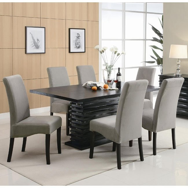 Stanton Dining Room Set with Gray Chairs Coaster Furniture .