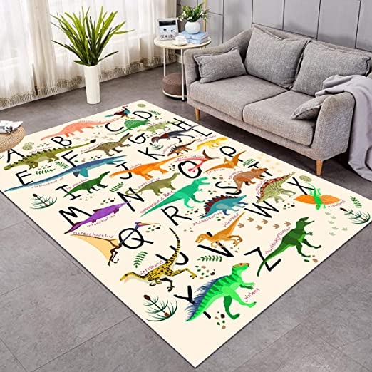 Amazon.com: Sleepwish Area Rug Cute Dinosaur Large Carpet for .