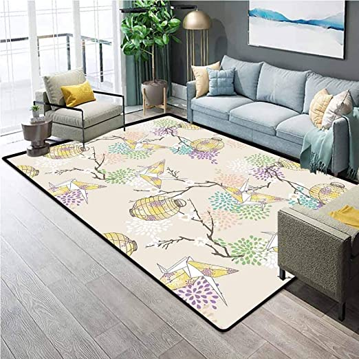 Amazon.com: Lantern Soft Rugs for Living Room Colorful Origami .