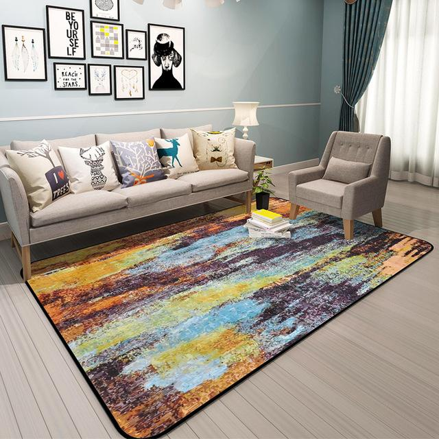Abstract Art Rugs Carpets for Living Room Free Shipping | BVM Ho