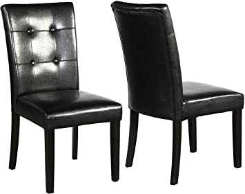 Amazon.com - BTEXPERT Dining Room Chairs Side Solid Wood Tufted .