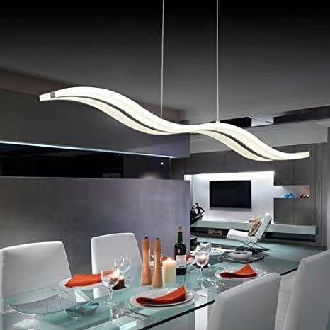 LightInTheBox Acrylic LED Pendant Light Wave Shape Chandeliers .