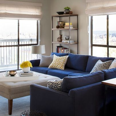 Modern Navy Blue Sofa Design Ideas, Pictures, Remodel, and Decor .