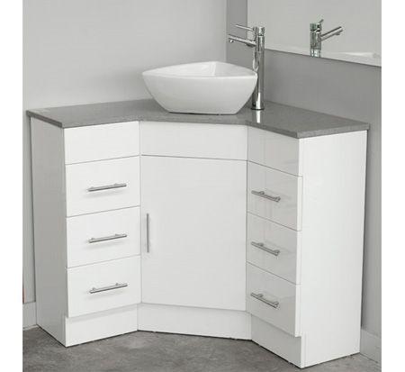 Corner Vanity with Caesarstone Top 600mm x 600mm   Corner bathroom .