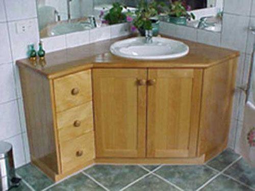 Custom vanity design - Shower Remodeling   Corner bathroom vanity .