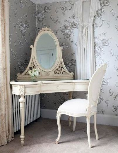 Beautiful corner makeup vanity table - dressing table | Shabby .