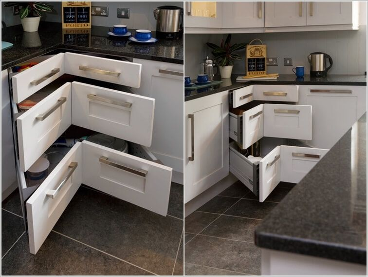 10 Clever Corner Storage Ideas for Your Home | Corner kitchen .