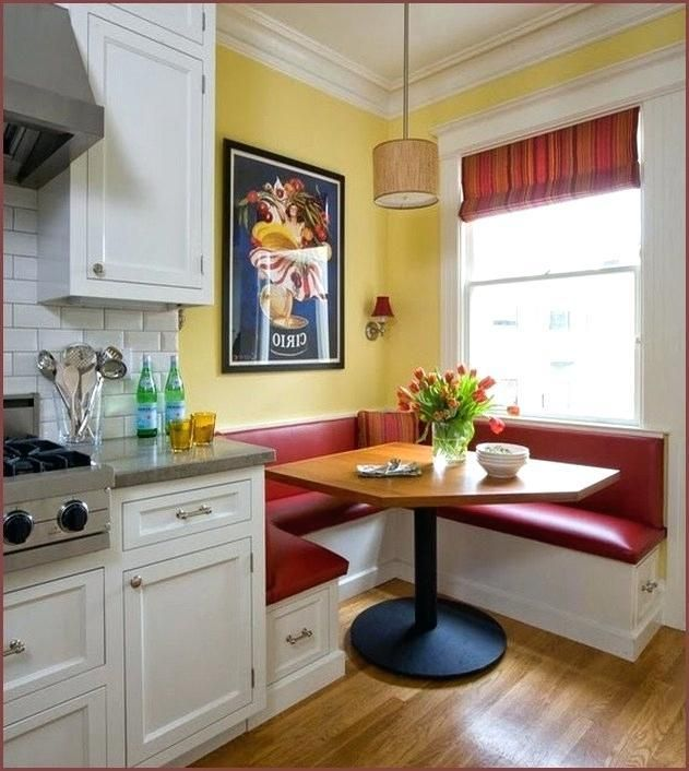 Classy Kitchen Table Booth | Booth seating in kitchen, Corner .