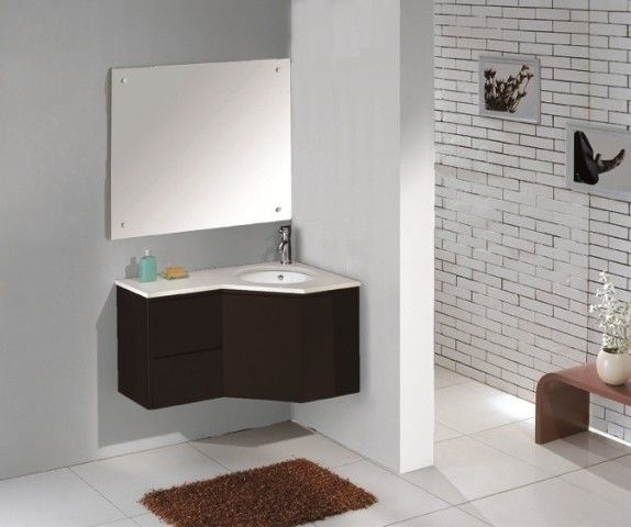 Corner bathroom vanity with sink - Bathroom : Furniture Reference .