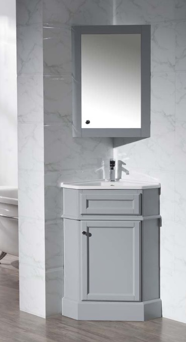 Corner Bathroom Vanities - Small Bathroom Ideas 1
