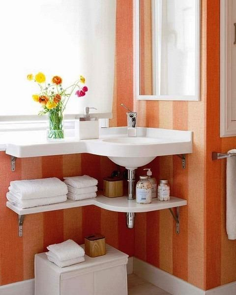Corner Bathroom Sinks Creating Space Saving Modern Bathroom Design .