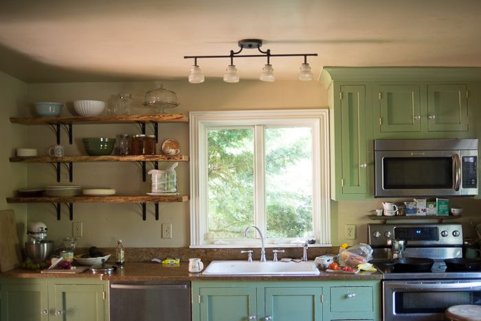 First, a Tree Had to Fall in the Forest | Log home kitchens, Home .