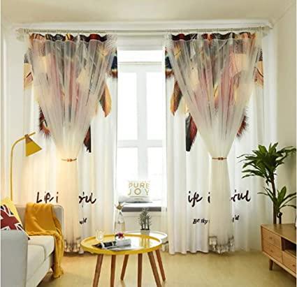 Amazon.com: UBEN Simple Curtains, Living Room, Bay Window, Small .