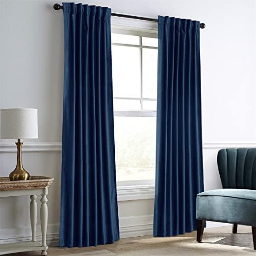Amazon.com: Dreaming Casa Royal Blue Velvet Room Darkening .
