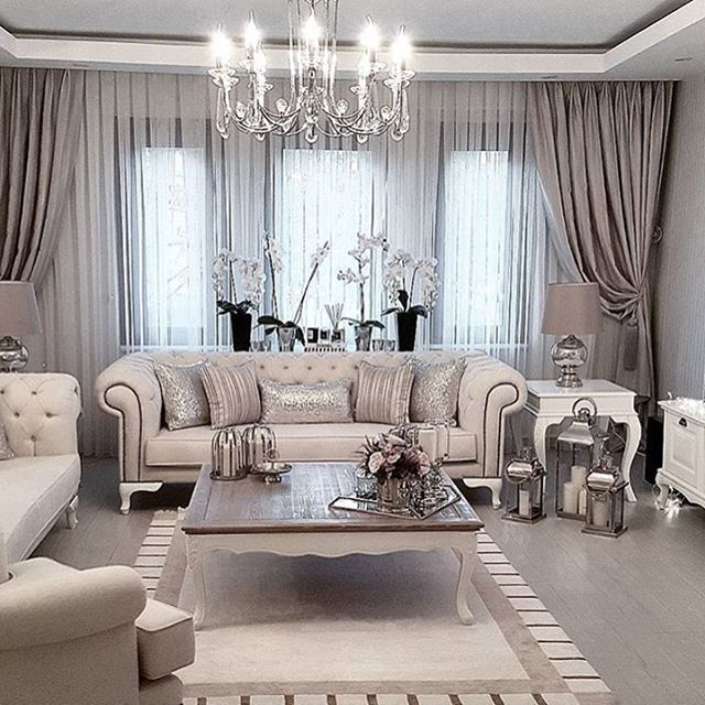 20 Curtain Ideas for Your Luxurious Living Room in 2020 | Curtains .