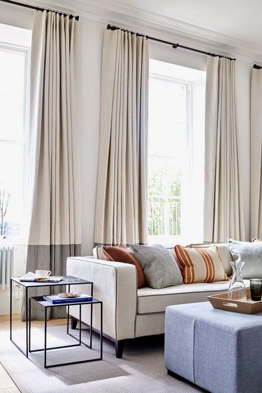 30+ Awesome Tall Living Room Curtain Inspirations - The Urban .