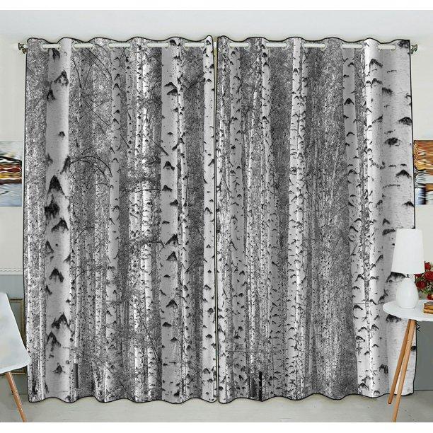 ZKGK Birch Tree Window Curtain Drapery/Panels/Treatment For Living .
