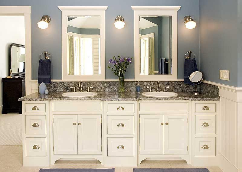 A white bathroom storage cabinet blends well with most decor. You .
