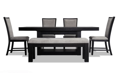 Cosmopolitan 6 Piece Dining Set with Bench | Contemporary dining .