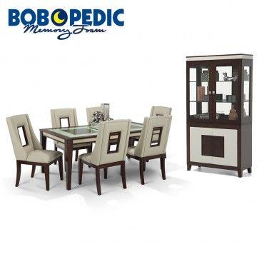 Kenzo 8 Piece Dining Set with Curio | Bobs.com | Dining room sets .